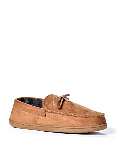 Mens Dockers Dockers Moccasin Slippers (2X-Large, Brown)