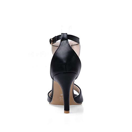 Ouvert Bout 1TO9 Femme MJS03563 Noir Inconnu 7Rgq4w0