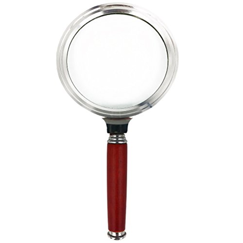 Aoneky 2.5X Handheld Metel Magnifying Glass for Map Reading, Science, Looking at Coin, Insects, Rocks by Aoneky