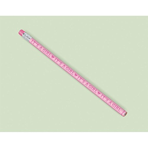 Shower Pencils - Amscan Baby Shower Pencil Favors - Pink