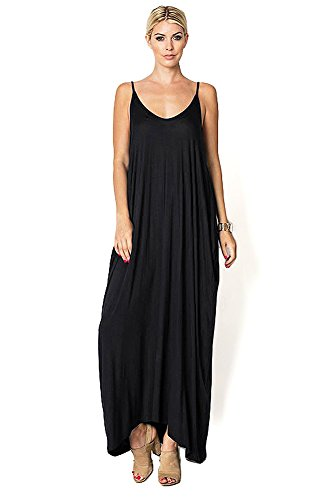 23c0f53920f Pink Ice Women s Trendy Harem Cut Maxi Dress w Pockets (M