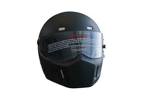 CRG Sports ATV Motocross Motorcycle Scooter Full-Face Fiberglass Helmet DOT Certified ATV-1 Matte Black Size Large by CRG Sports (Image #1)