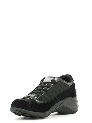 Fornarina Sneaker Alta Donna Rialzo Cm 6 Quilted suede Nylon Woman Black,37
