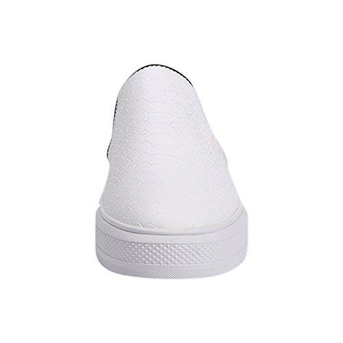 Sneakers In Pelle Microfibra Sunrolan Liz Stampa Donna Slip On Fannulloni Scarpe Basse Sneakers Bianche