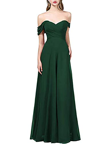 acd27803d1c OYISHA Womens Off The Shoulder Chiffon Bridesmaid Long Evening Dress Formal  BD131
