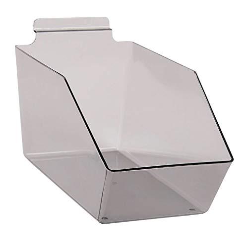 "Buy All Store Dump Bins for Slatwall Clear Gray Set of 10 Plastic Slat Wall 6"" x 11 ½"" x 5 -  buyallstore"