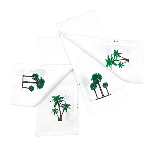 INDIA OVERSEAS Tropical Palm Trees Hand Towels: Simply