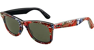 c8f0911ac19 Image Unavailable. Image not available for. Color  Ray Ban Original  Wayfarer Multi-colored Plastic Frame 50mm Sunglasses RB2140-50-1137