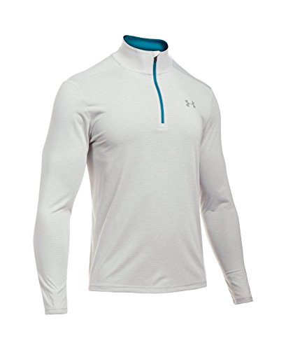 Under Armour Men's Streaker Run 1/4 Zip, Air Force Gray Heath/Peacock, Small by Under Armour (Image #3)