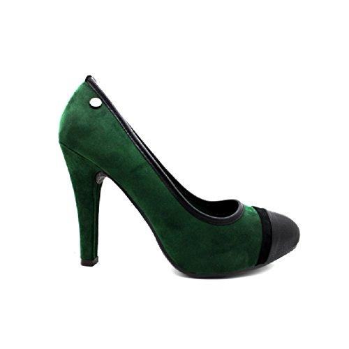 XTI, Scarpe stringate donna verde Verde
