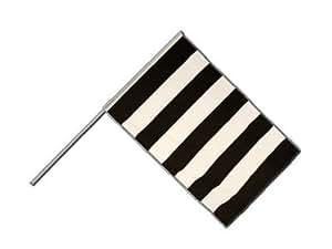 Grandes Stock Bandera/Stock rayas blanco y negro + Gratis Pegatinas, Flaggenfritze–Bandera