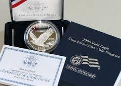 2008 Bald Eagle Commemorative Coin, Proof Silver Dollar, OGP COA
