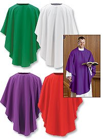 Everyday Chasuble Set of 4 Asst Colors 100% Polyester Pack of 4 by US Gifts