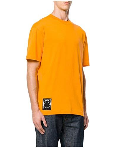 McQ Alexander McQueen Mens Logo Patch Cotton Jersey T-Shirt Small S Orange