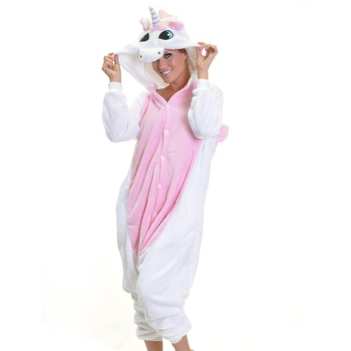 Unicorn Onesies for Adults, Teenagers, and Kids. More than 25 Different Styles of Unicorn Onesies to choose from and Fast Shipping in the USA. Animal Onesies on Halloween make a fun and easy costume. See other styles of animals and character pajama onesies, like Elephants, Cats, Dogs, Mermaids, Dragons, and Leopards.