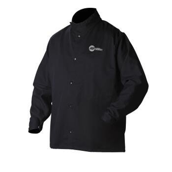 Welding Jacket, Navy, Cotton/Nylon, M (Bi Layer Jacket)