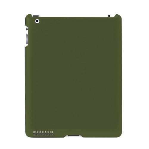 Simplism Crystal - Simplism Japan TR-CCIPD12-KK/EN Crystal Cover Set for iPad 3 - Khaki