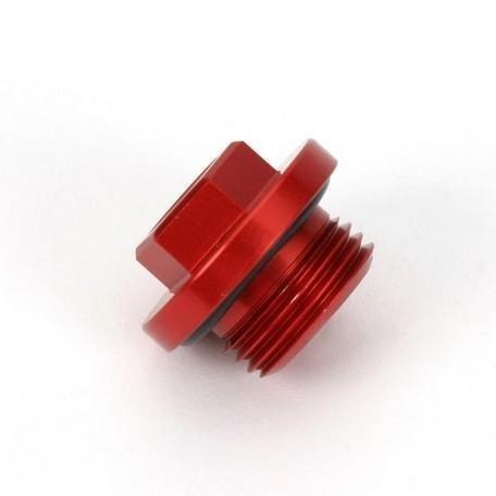 Works Connection Oil Filler Plug - Red 24-070