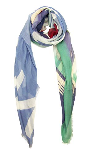 Blue Pacific Vintage Locale London Cashmere and Silk Scarf ()