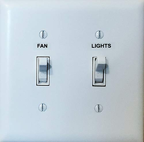 Light Switch Labels - Transparent Switch Identifier System for Organizing Your Home and Office