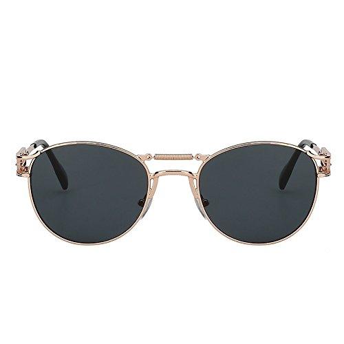 sol hombres gafas Vintage para calidad hombre de moda Gafas vigas del dobles UV400 alta de Steampunk Gafas de TIANLIANG04 metálicas Oculos Av8E0wq8