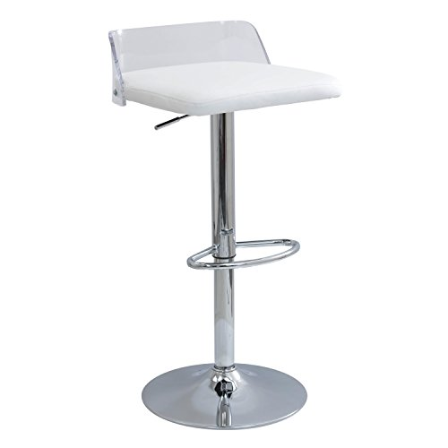 WOYBR BS-ARCTIC CL+W Acrylic, Pu, Foam, Chrome - Bar Acrylic Stools Lumisource