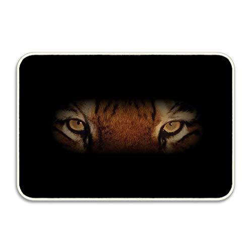 Tiger Eyes Rectangular Doormat Funny Easily Fold Memory Foam Floor Mats for Home