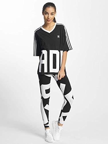 Nero Adidas shirt neck Originals T Donna V nSnHqZ4