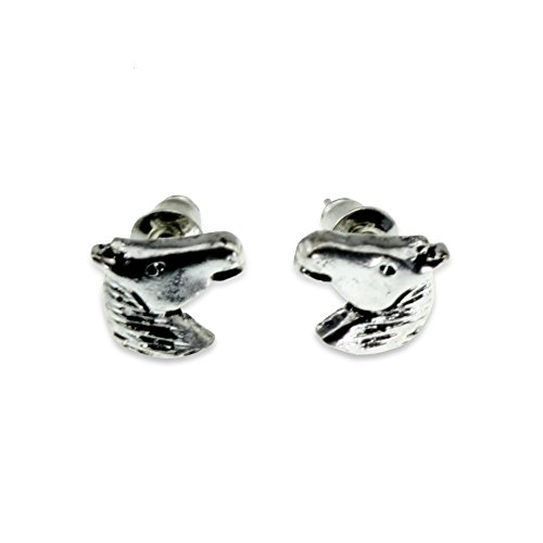 Horse Head Earrings (Horse Head Fashion Statement Jewelry Silver Casual Earring for Women Teen Little Girl Crazy Lover Gift)