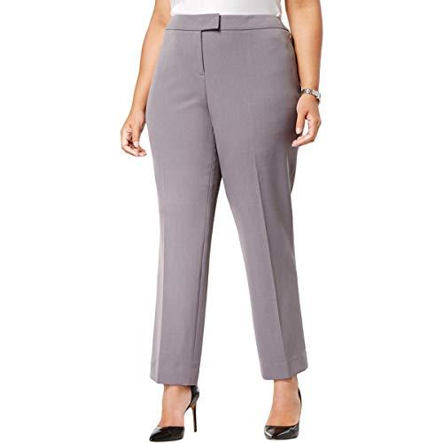 Anne Klein Womens Plus Straight Leg Professional Dress Pants Blue 24W
