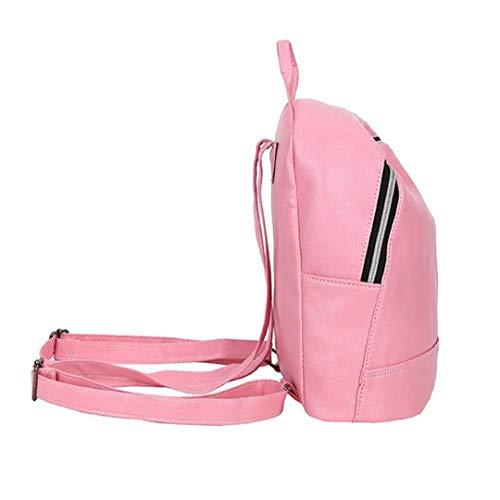 en bandoulière femmes Gensotrn sacs Black capacité filles adolescente sac grande solides cuir PU dos occasionnels ROnwntAq5F