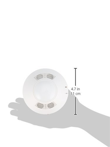 Cooper Controls OAC-DT-1000 MicroSet Ceiling Sensor, Dual Technology (Passive Infrared and Ultrasonic), 32 kHz, 360 Degree, 1000 Square Feet, 10-30 VDC, ...
