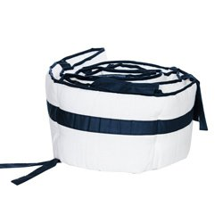 Modern Hotel Style Cradle Bumper, color: Navy, size: 18'' x 36''