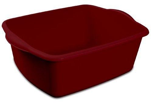 12 Quart Sterlite Red Dishpan Basin, Multi-purpose, 15 3/4
