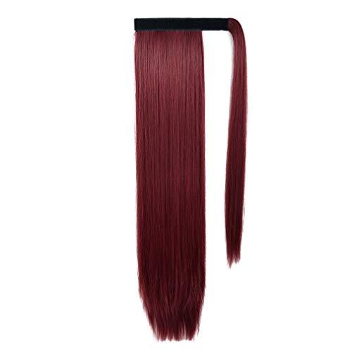 10个最好的马尾辫延伸真发红色