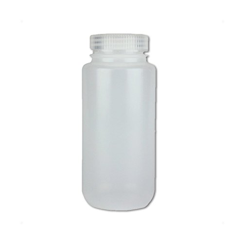 Mouth Environmental Sample Bottle - Certified Clean 16oz Wide Mouth Sample Bottle, HDPE, Nalgene, case/24