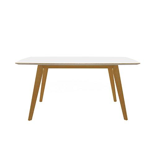 Tenzo 2184-901 Bess Designer Ausziehtisch Holz, weiß / eiche, 95 x 205 x 75 cm