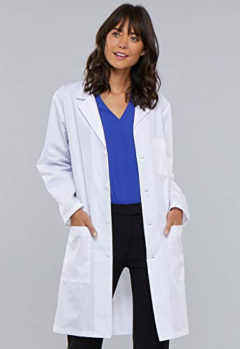 Cherokee 40 Inch Unisex Lab Coat, White, Large
