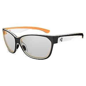 Ryders Eyewear KAT Women's Cycling Sunglasses with Grey Photochromic Tint Changing Lenses, Black-Orange