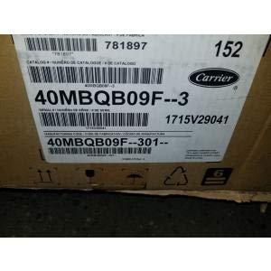 Carrier 40MBQ09F-301 3/4 TON Single-Zone Indoor Cassette DUCTLESS Mini-Split Heat Pump Unit, 208-230/60/1 R-410A