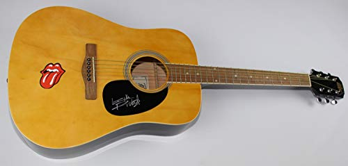 Rolling Stones Sticky Fingers Brown Sugar Keith Richards Signed Autographed Wood Full Size Acoustic Guitar Loa