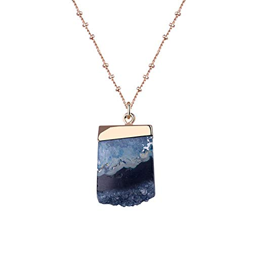 PQFYDS Natural Stone Necklace Pendant Jewelry Gradient Crystal Necklace for Women Girls