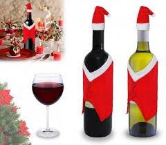 dalbags – Juego 3 Piezas Botella Navidad Vestido De Papá Noel Navidad con Gorra para Botella