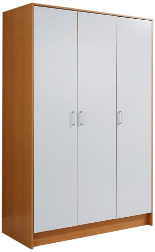 Mountrose Kleiderschrank Oslo Mit 3 Turen Farbe Weiss Amazon De