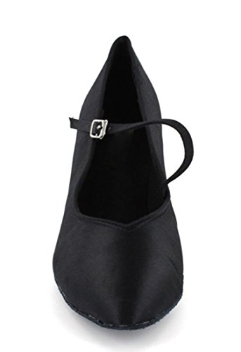 Tda Femmes Mary Janes Boucle Colsed Toe Cuir Tango Salle De Bal Latine Moderne Danse Chaussures De Mariage Noir