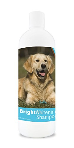 Image of Healthy Breeds Dog Whitener Shampoo For Golden Retriever - For White, Lighter Fur – Over 150 Breeds – 12 Oz - With Oatmeal For Dry, Itchy, Sensitive, Skin – Moisturizes, Nourishes Coat
