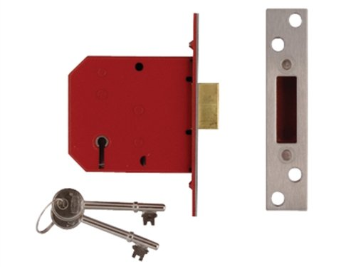 Union Locks 2101 5-Lever Mortice Deadlock 79.5mm - Brass Finish (Boxed) UNNJ2101PL30