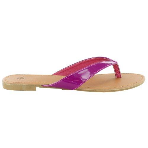 Footwear Sensation - Sandalias de vestir de sintético para mujer Naranja - morado