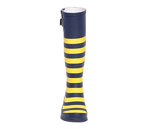 Dark Blue and Gold Rainboots Initial K 8Duc3hdW