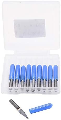 NO LOGO HWW-DIAOKEZT, 10pcs / Pack V-Form mit flachem Boden Carbide PCB Engraving Bits 3,175 Schaft 10 Grad von 15 Grad 0.1mm 0. 2 mm 20 Grad-90 Grad-0.1mm (Size : 20 Degree 0.4mm)